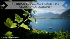 What blogging taught me about photography