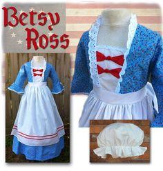 MissEm.com - Betsy Ross Colonial Dress, $115.00 (http://www.missem.com/products/Betsy-Ross-Colonial-Dress.html)