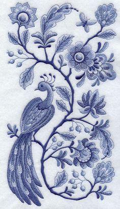 / delft blue / embroidery /