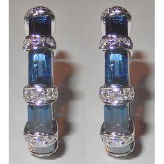 Saphir- Diamantohrringe - 2.85 Karat - aus 585er Gold
