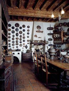 AKG-imágenes -18th century kitchen, Palazzo d'Arco, Mantua (UNESCO World Heritage List, 2008).