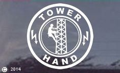 Tower Climber - The Sky is the Limit Vinyl Window Decal / Sticker, available in white, black or red vinyl. Our price includes the decal, packaging and shipping and Etsy Fees and of course our credit card fees. Tower Climber, Baskets For Men, Tower Design, Work Tools, Window Decals, Gift Store, Climbers, Artsy Fartsy, Sky