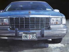 "François Bard, Cadillac, 2013, Oil on Canvas, 59"" x 76¾"" #Art #Contemporary #Painting #BDG #BDGNY #Car"