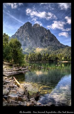 The Encantats mountains and Sant Maurici lake |Pinned from PinTo for iPad|