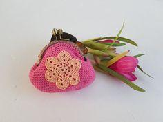 Frame Coin Purse Crochet Purse metal Frame Purse mini by LyuToys