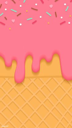 Waffles with strawberry ice cream mobile phone wallpaper vector Mobile Wallpaper, Cream Wallpaper, Food Wallpaper, Wallpaper Backgrounds, Iphone Wallpaper, Yellow Aesthetic Pastel, Cream Aesthetic, Ice Cream Background, Pink Story