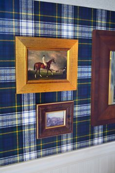 The Polohouse: Plaid Equine Bedroom