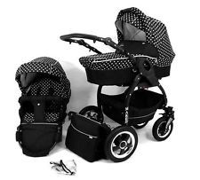 Baby Pram Stroller Pushchair Buggy Maxi Cosi Compatible --- 11 COLOURS