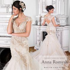 Anna Romysh Haute Couture collection – Lyia dress   #ARHC #AnnaRomysh #HauteCouture #bridal #lacedress #lace #weddingdress #hautecouture #AnnaRomyshHauteCouture #backdress #train  #suknieślubne #ślub