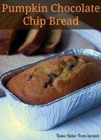 The BEST Pumpkin Chocolate Chip Bread on MyRecipeMagic.com -moist, flavorful, perfect pumpkin bread that my mom has been making for years!
