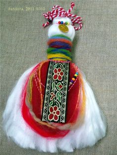 прежда,жива вълна,ширити,паричка Baba Marta, Santa Boots, Yarn Dolls, Crochet Home, Cross Stitch Embroidery, Fiber Art, Projects To Try, Diy Crafts, Traditional