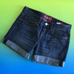 Lucky Brand Jean Shorts  HP 5/20 Lucky Brand Shorts. Jean shorts in Abbey style. Excellent condition. Size 24.                           Waist- 15 in Hips- 18 in  Front rise- 7.5 in Inseam- 4.75 in Lucky Brand Shorts Jean Shorts