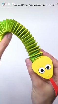 Origami video. snake. . Step By Step #awesome #hamdmade #art #paper #diy #origami #Video #stepbystep #decoration Diy Crafts For Kids Easy, Animal Crafts For Kids, Spring Crafts For Kids, Craft Activities For Kids, Toddler Crafts, Preschool Crafts, Paper Crafts Origami, Paper Crafts For Kids, Fun Crafts