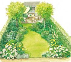 symmetrischer Garten