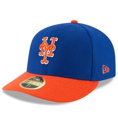 Men s New Era Royal Orange New York Mets Diamond Era 59FIFTY Low Profile  Fitted Hat e7e79a980a44