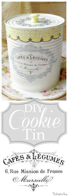 DIY Cookie Tin - The Graphics Fairy