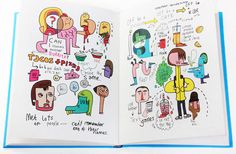 """""""My american summer"""" by Jon Burgerman...I like his statement: 'Whether you're on the moon, in the UK or in the US, your baggage almost always comes with you.'"""