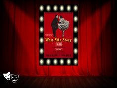 """West Side Story"" Broadway poster http://www.pinterest.com/donwinston/the-gristmill-playhouse/ http://www.donwinston.com"