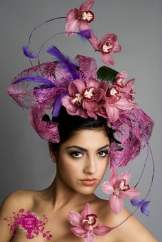 How beautiful is this? - feathers and flower hairpiece