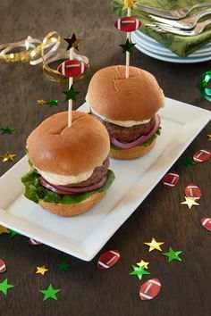 Sliders with chipotle mayo - Super Bowl yum!