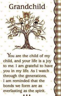 I love my Grandchildren..everyone of them are special creations of God and my children.