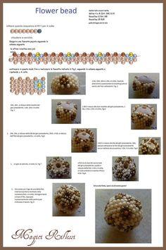Flower Beaded Bead tutorial