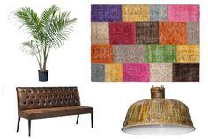 #vintage #patchwork kleden van #Sukhi. Geeft je #interieur een vintage look. #collage #board   Sukhi.nl
