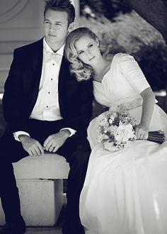 @Augusta Hamilton Jones modest wedding dress.  Image by Julie Parker.