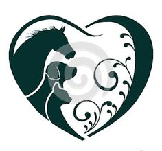 Vector - Logo Horse Dog and Cat love heart - stock illustration royalty free illustrations stock clip art icon stock clipart icons logo line art EPS picture pictures graphic graphics drawing drawings vector image artwork EPS vector art Dog Tattoos, Animal Tattoos, Tatoos, Love Heart Illustration, Horse Illustration, Horse Stencil, Dog Silhouette, Silhouette Images, Dog Logo