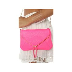 *Accessories Boutique The Pop Art Clutch In Neon Pink ($42) ❤ liked on Polyvore