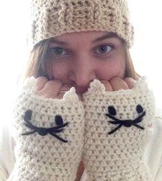 Guantes de gato guantes guantes sin dedos de gato por SunOverVegas