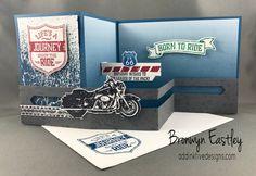 Bronwyn Eastley Independent Stampin' Up! ® Demonstrator Australia, One Wild Ride, Z-Fold Slider Card Z Cards, Fun Fold Cards, Pop Up Cards, Folded Cards, Stampin Up Cards, Masculine Birthday Cards, Birthday Cards For Men, Masculine Cards, Male Birthday