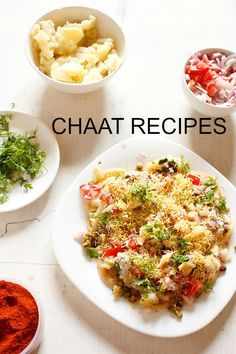 chaat recipes - collection of 30 chaat recipes from blog. the word 'chaat'comes from the hindi word 'chaat' which means to taste or 'chaatna' which means to lick. this one word 'chaat' aptly describes these