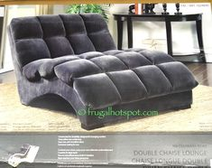 S-Shaped Chaise Double-Chaise-lounge-indoor-Fabric-Costco-on-grey ...