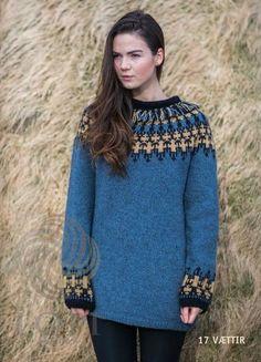 - Icelandic Vættir Women Wool Sweater Blue - Tailor Made - Nordic Store Icelandic Wool Sweaters  - 1