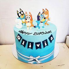 Images about #blueycake on Instagram Abc Birthday Parties, 4th Birthday Cakes, 1st Boy Birthday, Birthday Ideas, Bingo Cake, Lincoln Birthday, Dog Cake Topper, Abc For Kids, Dog Cakes