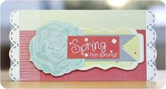 Spring Additions #Scrapbooking #Card from Creative Memories    http://www.creativememories.com