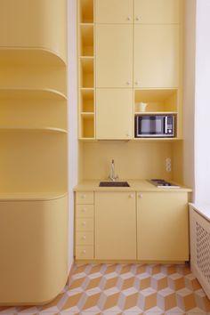Monochrome Interior, Pastel Interior, Yellow Interior, Interior And Exterior, Archi Design, Küchen Design, House Design, Design Apartment, Cuisines Design