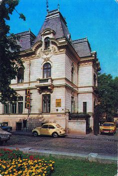 Romania Bucharest, Vw Beetles, Postcards, Mansions, House Styles, Vintage, World, The Streets, Places