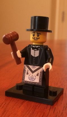 Lego Freemason With Gavel and Apron by High12Art on Etsy