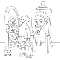 The sneak peek for the next Gift of The Day tomorrow. Do you like this one? #robot #selfportrait ••••••••••• Don't forget to check it out tomorrow and show us your creative ideas, color with Color Therapy: http://www.apple.co/1Mgt7E5 ••••••••••• #happycoloring #giftoftheday #gotd #colortherapyapp #coloring #adultcoloringbook #adultcolouringbook #colorfy #colorfyapp #recolor #recolorapp #coloring #coloringmasterpiece #coloringbook #coloringforadults