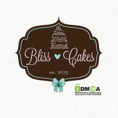 cake logo design premade logo design bakery by stylemesweetdesign