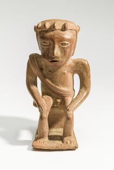 Colombia. 750-1600 A.D. Seated Male Chewing Coca (coquero) | LACMA Collections