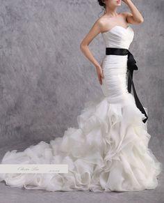 Traegerloses weisses Hochzeitskleid - Style 4 - Olivia-Lai - Suknie ślubne