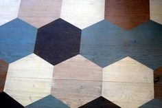 Honeycomb pattern painted on the floor