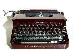 Smith Corona Sterling from 1936 Types today just as it did in My computers last all of 5 years. They sure don't make 'em like they used to! 80 Grit Sandpaper, Smith Corona Typewriter, Antique Typewriter, Teenage Girl Gifts, Vintage Typewriters, Old Tools, Tom Hanks, Room Accessories, Easy Install