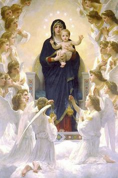 William Adolphe Bouguereau, Jesus Pictures, Art Pictures, Photos, Catholic Pictures, Catholic Art, Religious Art, Blessed Mother Mary, Blessed Virgin Mary