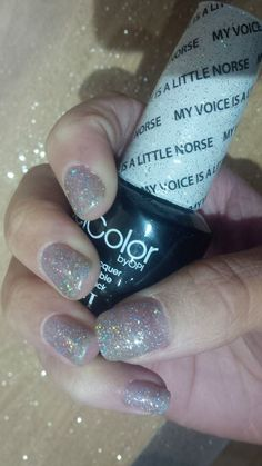 OPI GelColor My Voice is a Little Norse #OPI #glitter