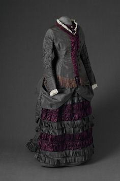 Historical fashion and costume design. Charles Frederick Worth, Jeanne Paquin, 1870s Fashion, Victorian Fashion, Victorian Era, Victorian Dresses, Vintage Fashion, Victorian Ladies, Women's Fashion