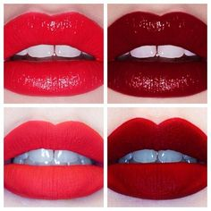 Red lips, add eye shadow to make it matte (re-pinned from Jemma Smith)
